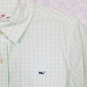 Vineyard Vines Mint Gingham Button Down Shirt